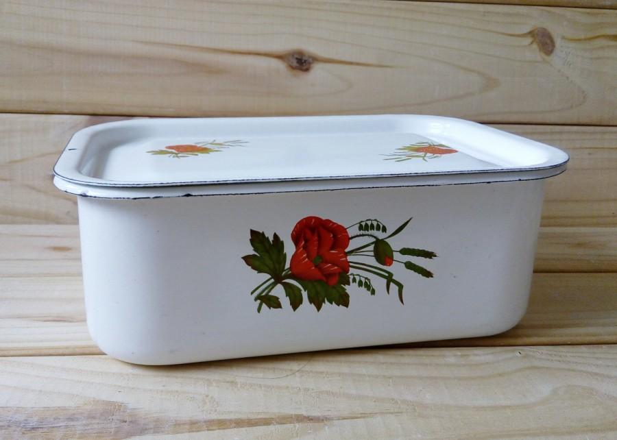 Vintage enamel white bowl with lid Made in Soviet Union Metal bowl Kitchen accessories Metal dishes Storage container 70s & Vintage Enamel White Bowl With Lid Made In Soviet Union Metal Bowl ...