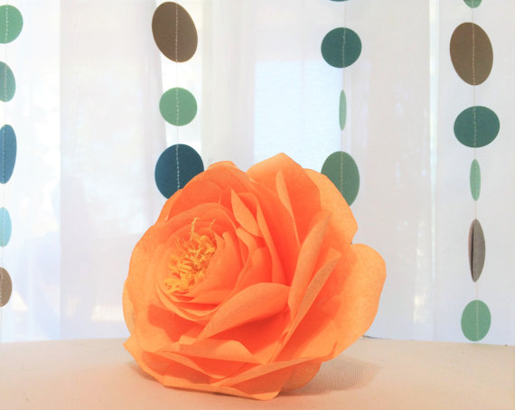 Paper Peonies, 3 Sizes To Choose, Paper Flowers, Artificial Paper ...