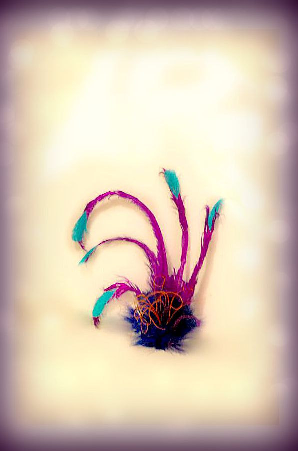 Mariage - Purple Teal & Royal Blue Fascinator Hair Clip or Comb. Kevin from UP Headress Hairclip Dress Up Costume Pin. Movie Character Inspired Hairdo