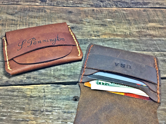 Свадьба - Flap Wallet, Groomsman Gift, Husband Gift, Handmade Credit Card Wallet, Boyfriend Gift, Personalized Leather Mens Wallet, NiceLeather-NL101