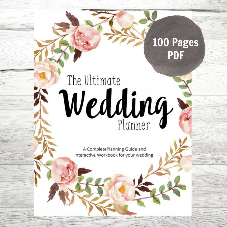 Printable Wedding Planner, DIY Wedding Planner, DIY Wedding Guide, PDF Planner, Wedding Binder