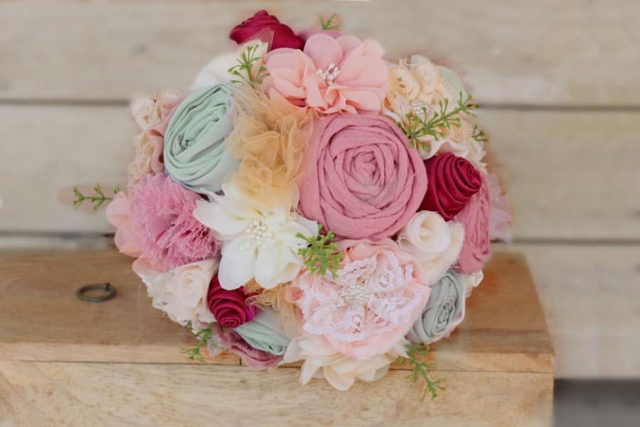 Hochzeit - Boho bridal bouquet, boho chic wedding bouquet, bohemian wedding