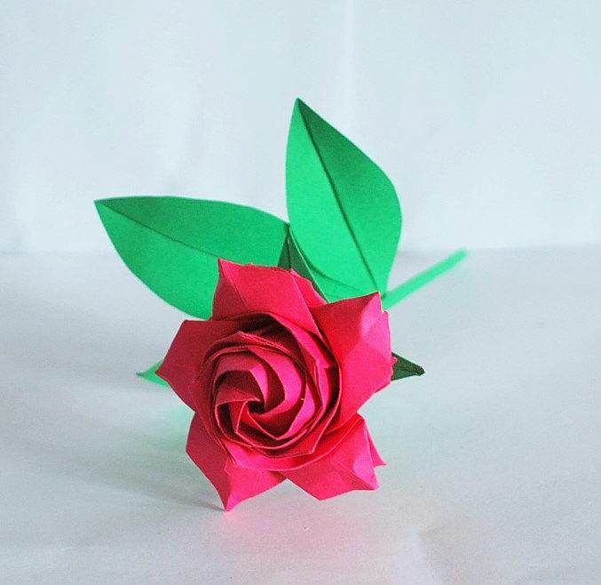Origami Rose Rose Bouquet Paper Rose Wedding Flower Bouquet