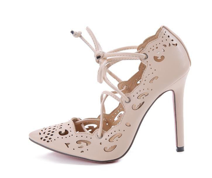 Mariage - Designer High Heels Pointed Toe Women Wedding Party Shoes
