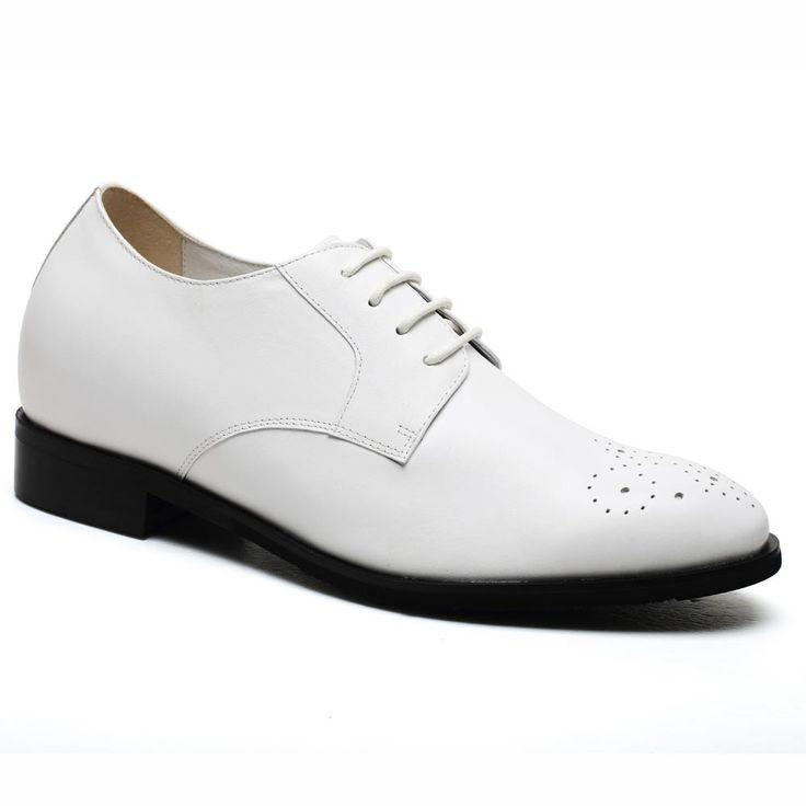 Hochzeit - 2016 New Style Elevator Shoes Wedding Shoes White Brogues Dress Shoes