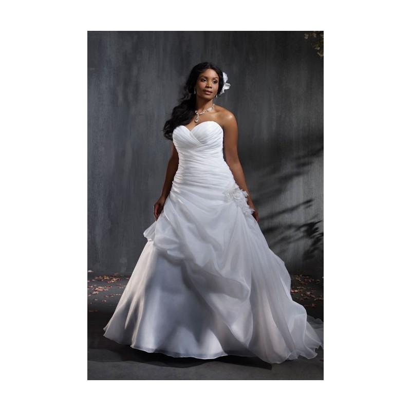 Alfred Angelo - Style 2353 Satin Organza Plus-Size Wedding Dress ...