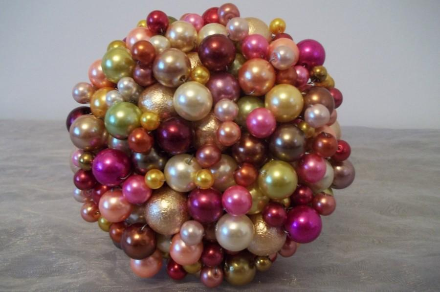 Свадьба - Bright Bead Bouquet. Christmas Bouquet/ Christmas Decoration.