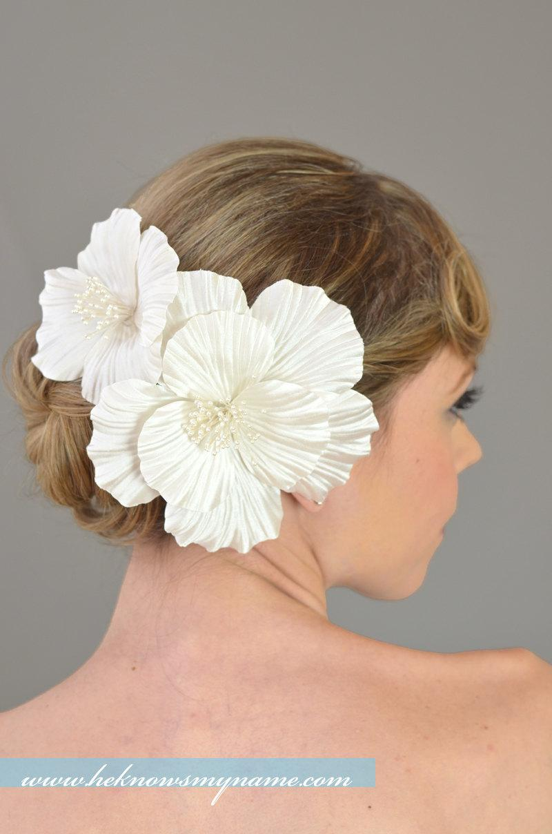 Bridal Hair Flowers Wedding Hair Accessories Silk Hair Flowers