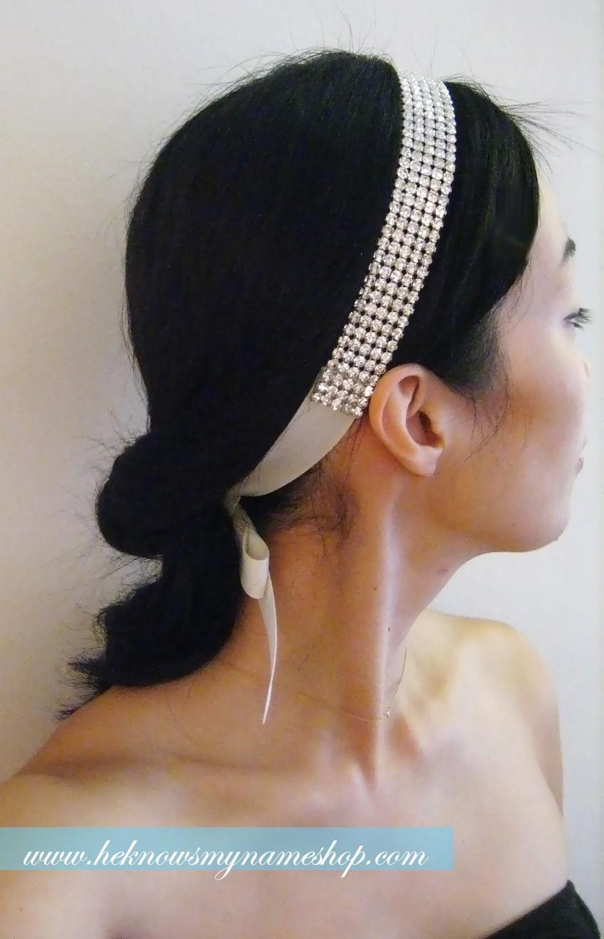 Mariage - Wedding Accessory Bridal Hair, Wide Rhinestone Headband / Sash - rhinestone, bridal belt