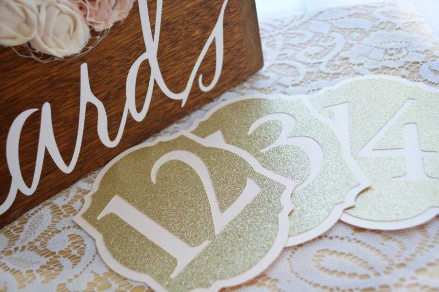 زفاف - Elegant Pale Blush and Glitter Gold Table Numbers for Wedding - Table Number Cards - Table Number Signs - Table Numbers Wedding -