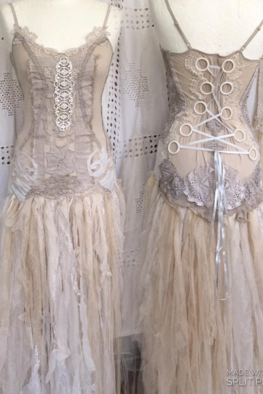 Mariage - Victorian inspired wedding dress,Alternative  statement wedding dress,fairy vintage dresses, eco friendly wedding dress, boho delux wedding