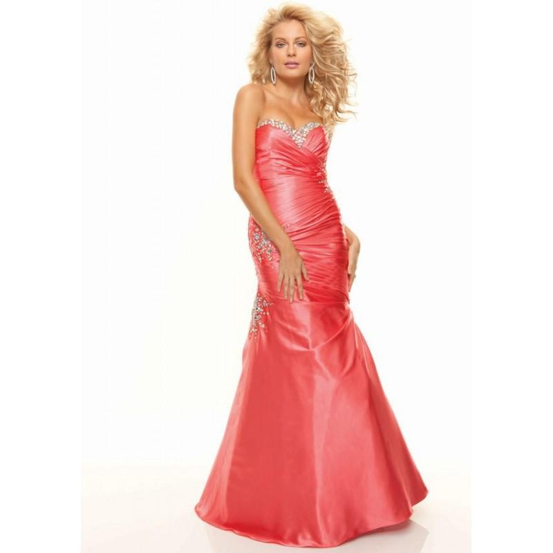 Graceful Paparazzi By Mori Lee 93009 Ruched Mermaid Prom Dress ...