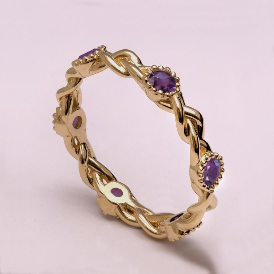 braided amethyst engagement ring braided eternity ring