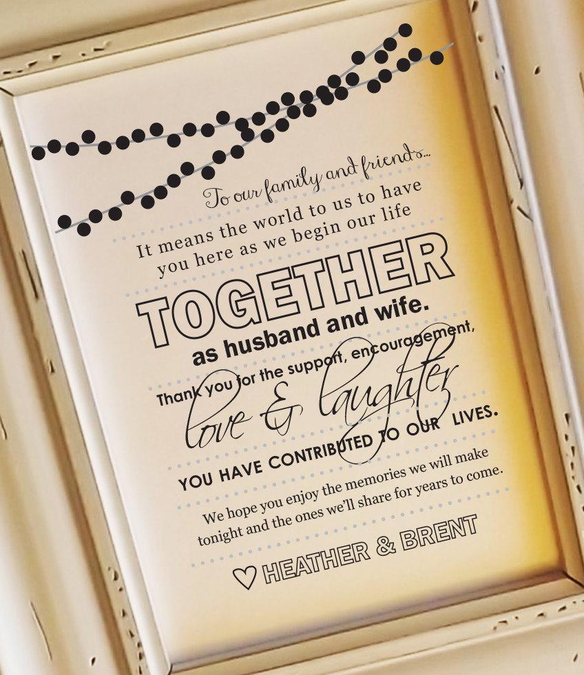زفاف - Thank You Wedding Sign, To Our Family and Friends Sign, 8x10 Wedding Sign Wedding Signs to Family and Friends, Wedding Signage NO Frame