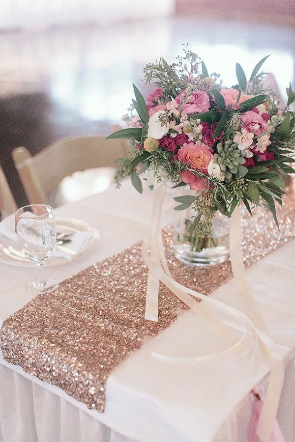 Свадьба - Rose Gold Table Runners