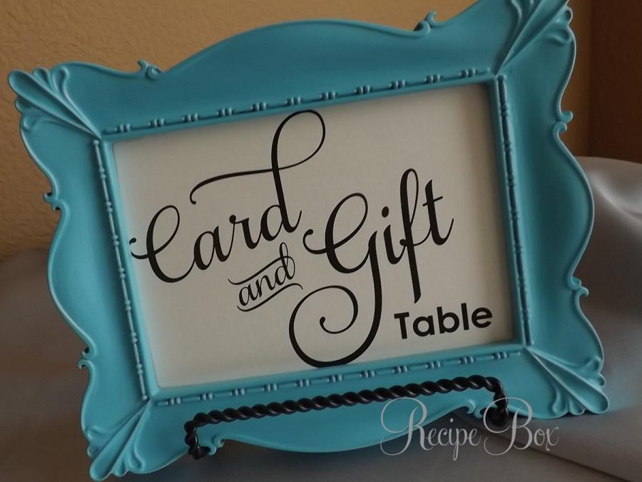 Wedding - Card and Gift Table, Wedding Sign Card and Gift Table, Cards and Gifts, 5x7 Reception Sign, Wedding Signs NO Frame