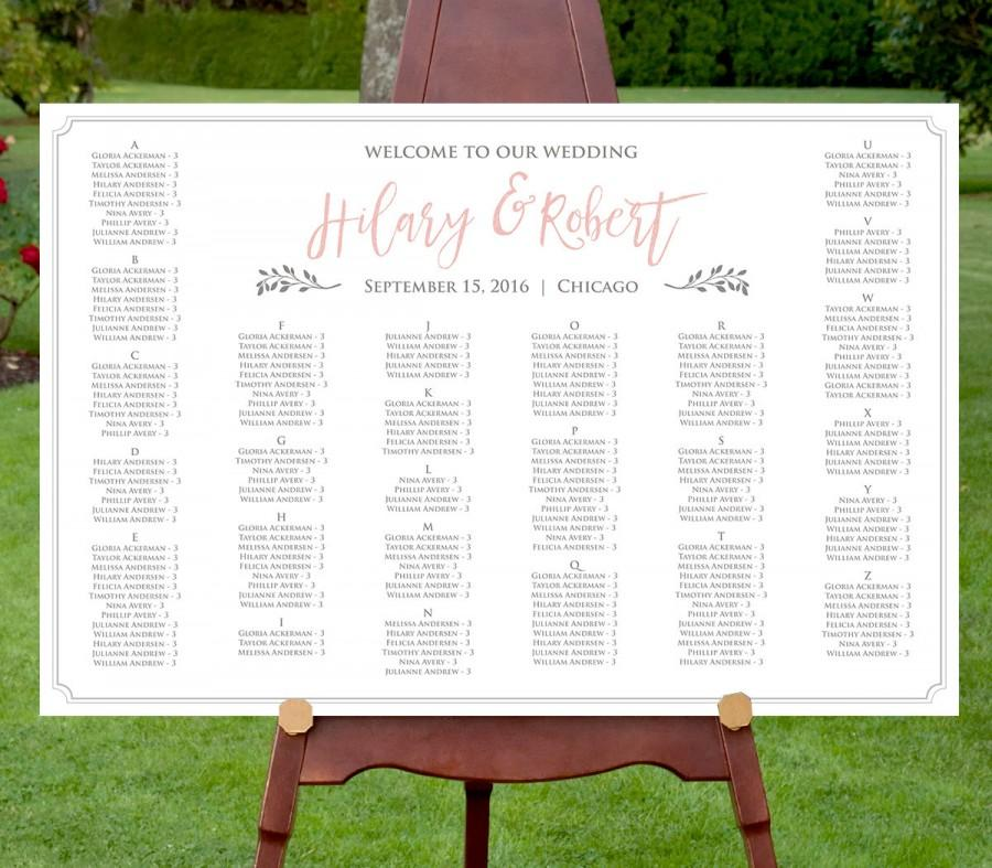 Seating Chart Template, Instant Download, Editable Text, DIY ...