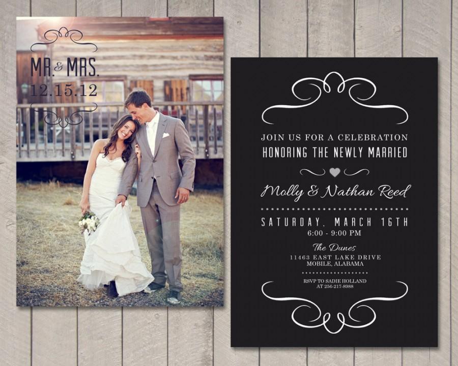 Mariage - Modern Wedding Reception Invitation (Printable) by Vintage Sweet