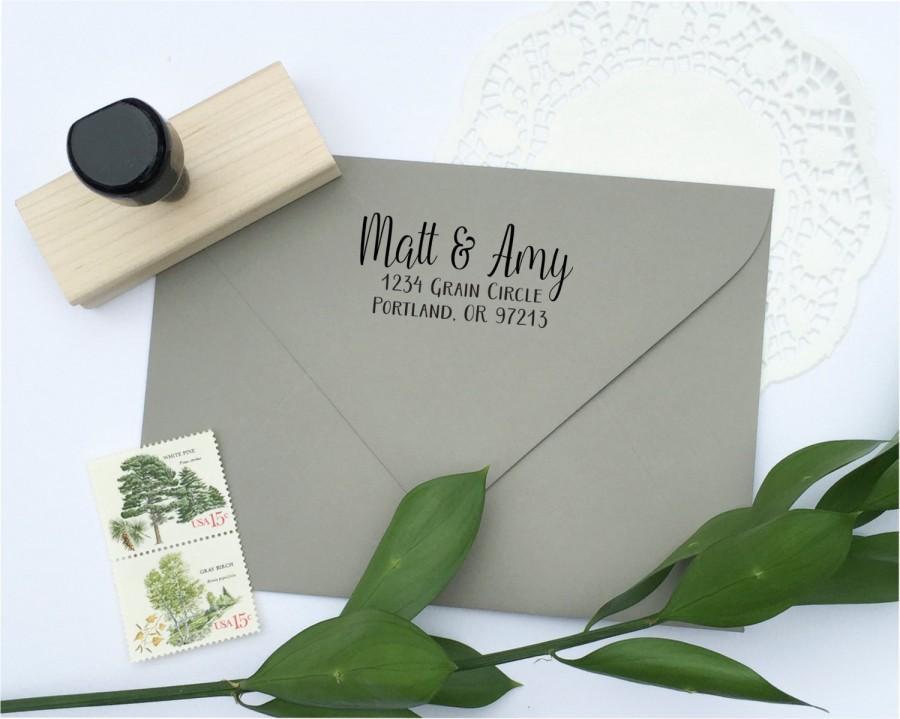 Mariage - Address Stamp - custom address stamp - return address stamp - calligraphy address stamp - custom stamp - rubber stamp - Z1137