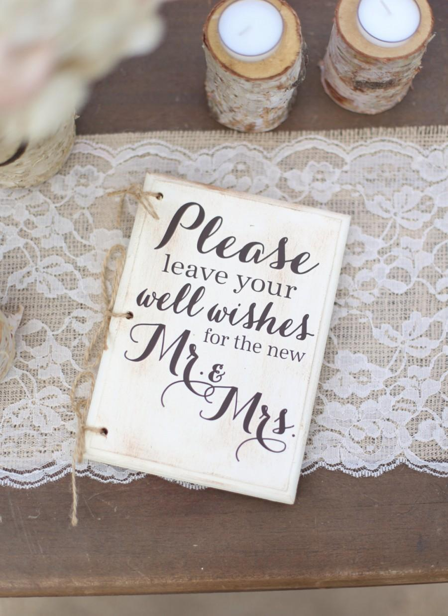 rustic wedding guest book hipster bridal shower keepsake typography item number mmhdsr10060