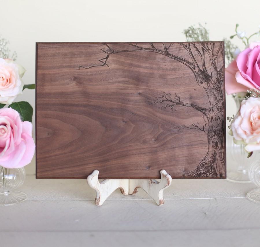 Свадьба - Personalized Love Tree Cutting Board Wedding Gift 2014