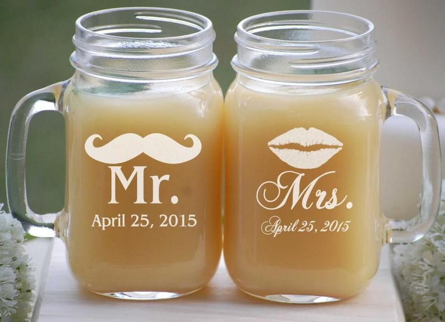 Mason Jar Wedding Favors Etched Jars