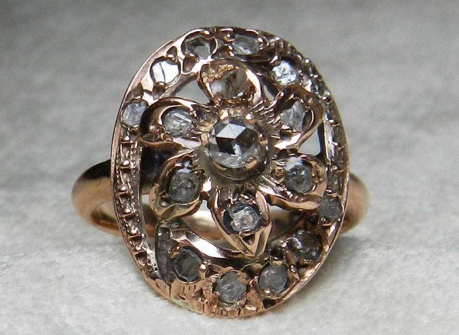 antique carat cut ring j id cluster z georgian old rings diamond jewelry at engagement