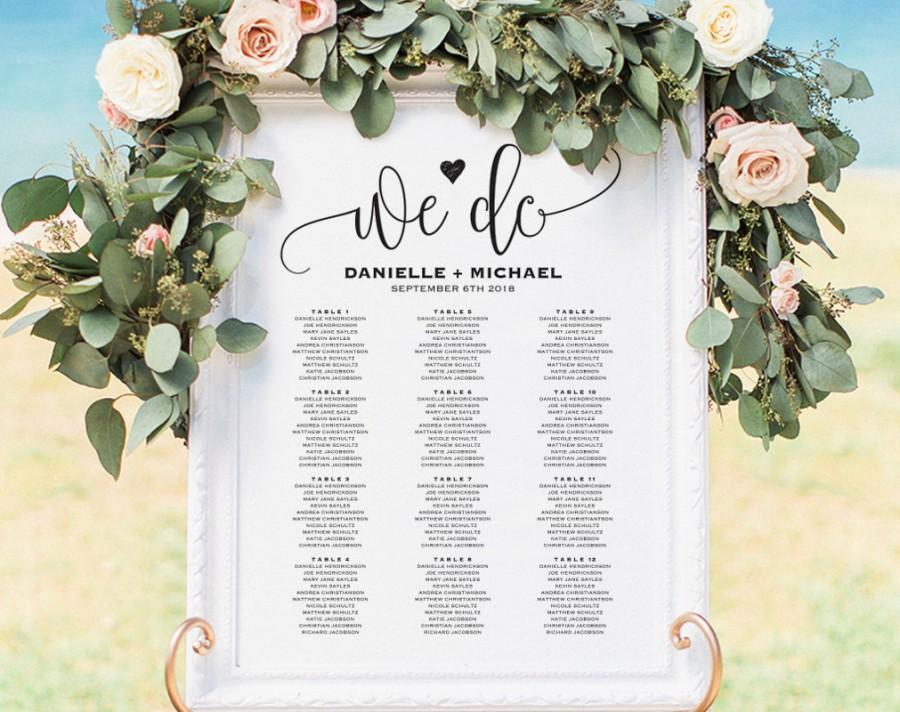 wedding seating chart sign seating chart printable seating chart