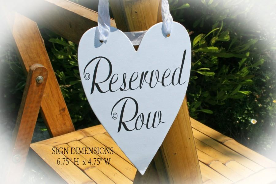 Mariage - Reserved Row sign- Wedding Reserved Sign