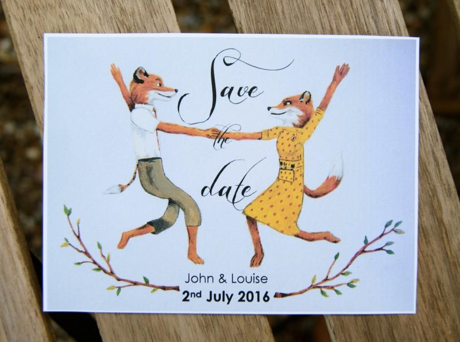 Mariage - Fantastic Mr Fox Save the Date cards