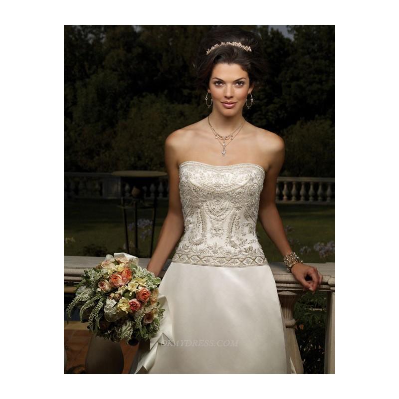 زفاف - Casablanca 1859 Bridal Gown (2011) (CB07_1859BG) - Crazy Sale Formal Dresses