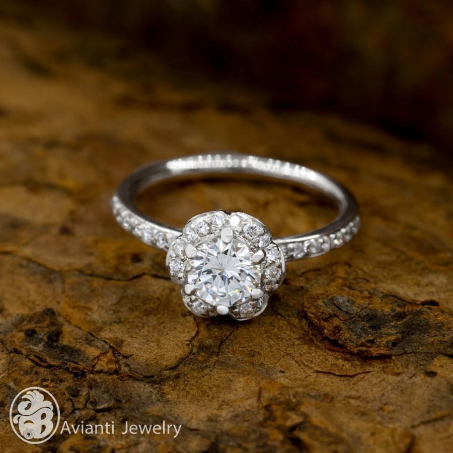 Payment Plan For Jillellenj Ring Diamond Flower Blue Shire Wedding Band Engagement