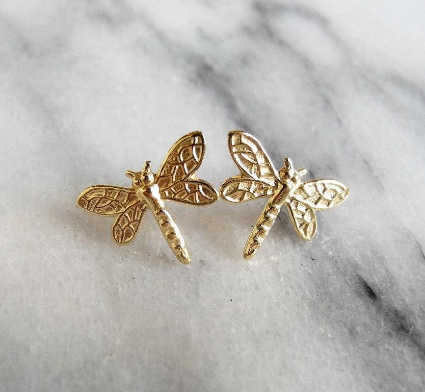 Dragonfly Earrings, Insect Jewelry, Outlander Jewelry, Woodland ...