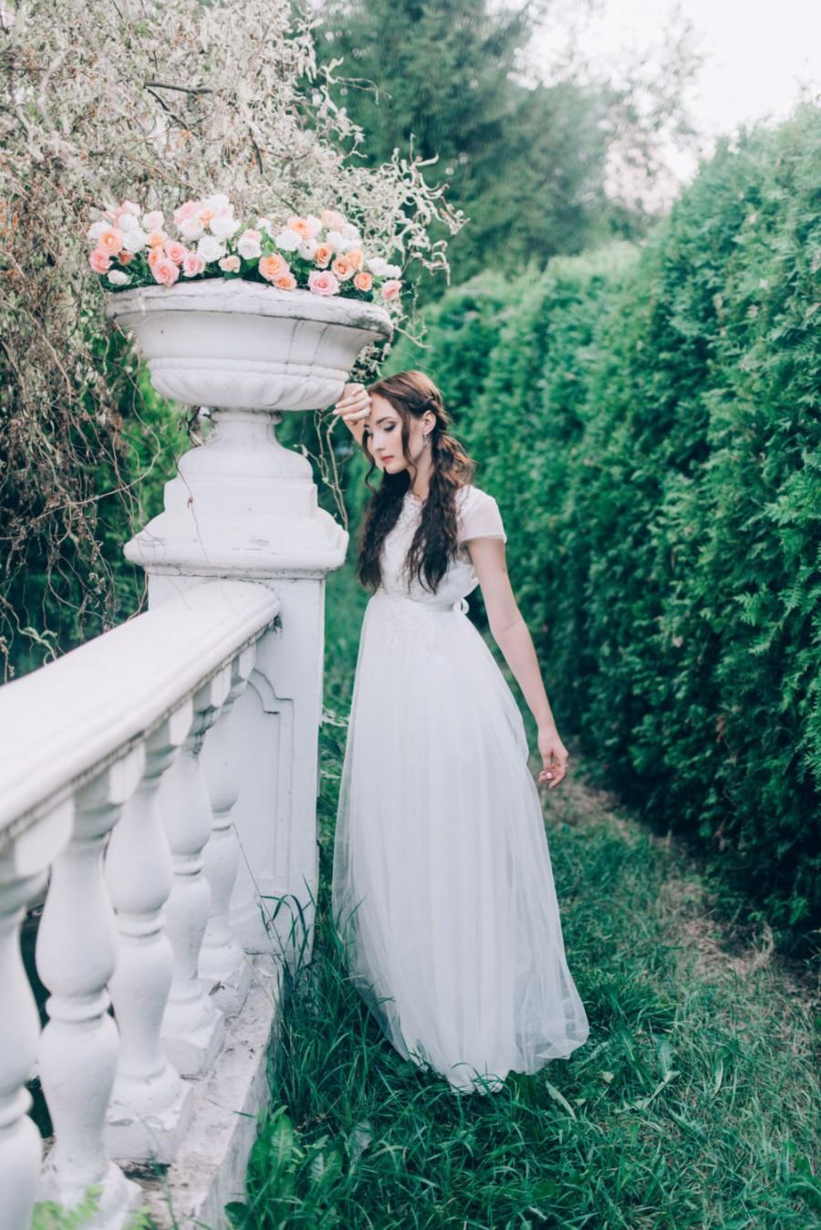 Hochzeit - Wedding lace dress - Angel -  unique wedding gown. Bridal gown. Bohemian wedding dress. Bridesmaid dress. Fairy wedding dress