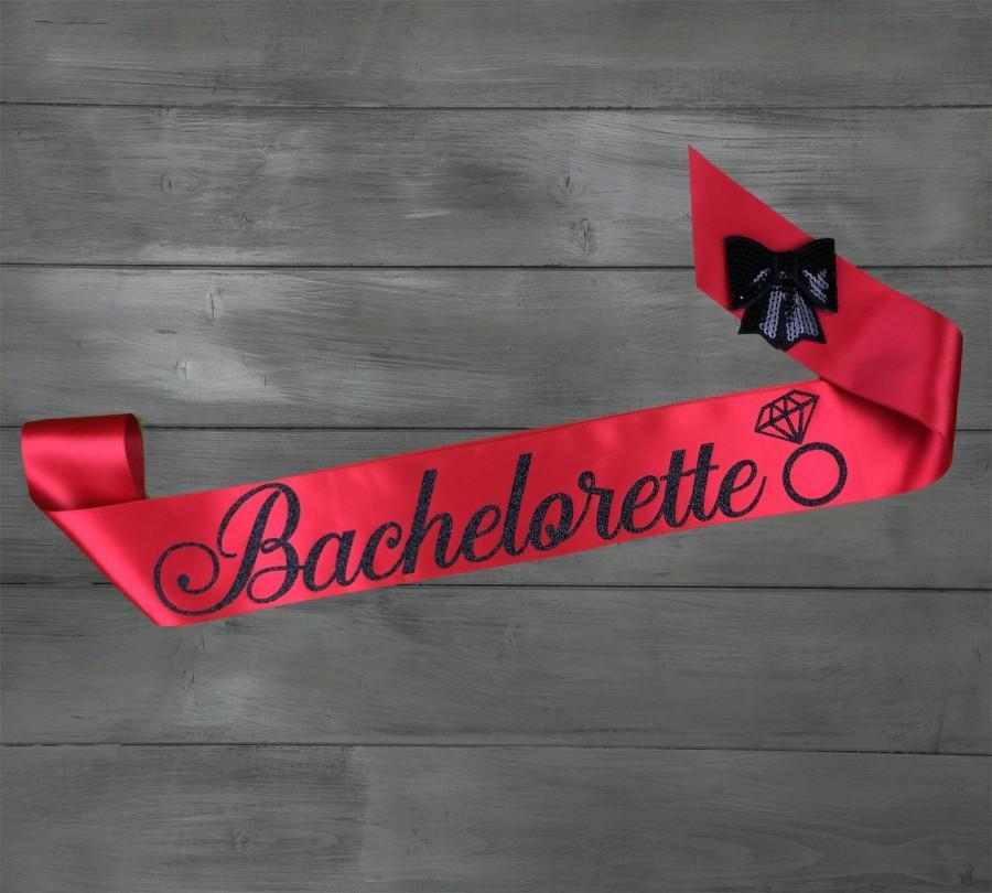 bachelorette sash bride sash bachelorette bridal shower sash custom glitter sash