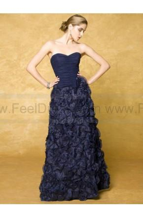 Mariage - A-line Sweetheart Midnight Hand-Made Flower Organza Sleeveless Floor-length Mother of the Bride Dress