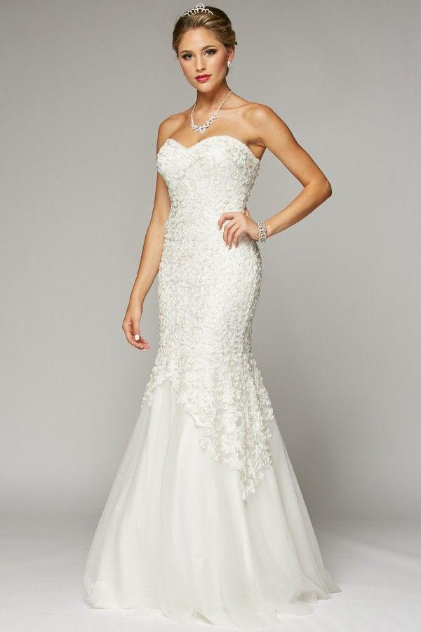 Strapless Sweetheart Neckline Mermaid Wedding Dress 105