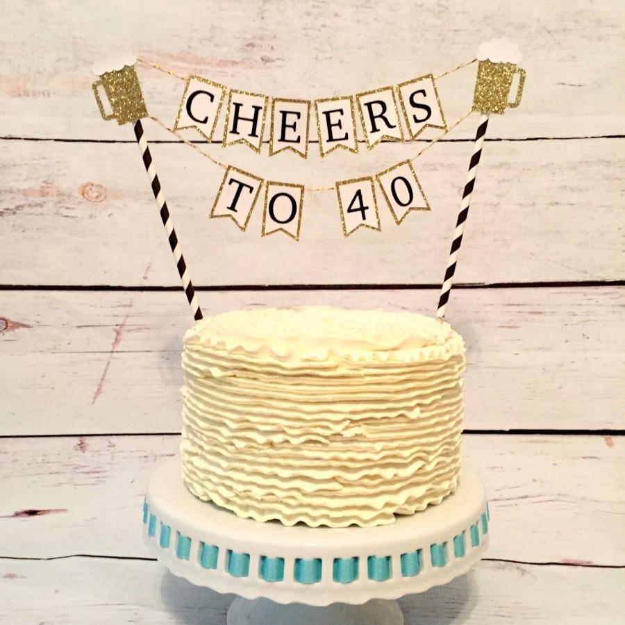 Свадьба - Beer mug cake topper, 21st birthday, 30th birthday, cheers to 30 years, dirty thirty, thirsty thirty, cupcake toppers, cake topper