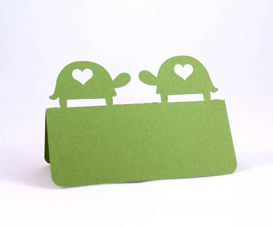 Свадьба - Turtle Love Place Cards Set of 100 Wedding