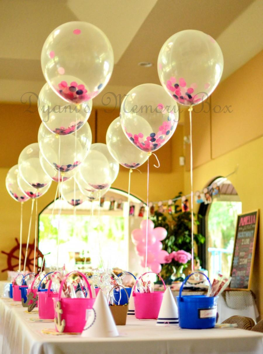 """Свадьба - Match your colors - 12"""" Biodegradable Clear Latex Confetti-Filled Balloons"""