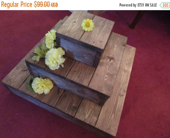 Свадьба - on sale rustic cupcake stand , rustic cake stand , wedding decoration , baking tools , country wedding , rustic wedding , table centerpiece