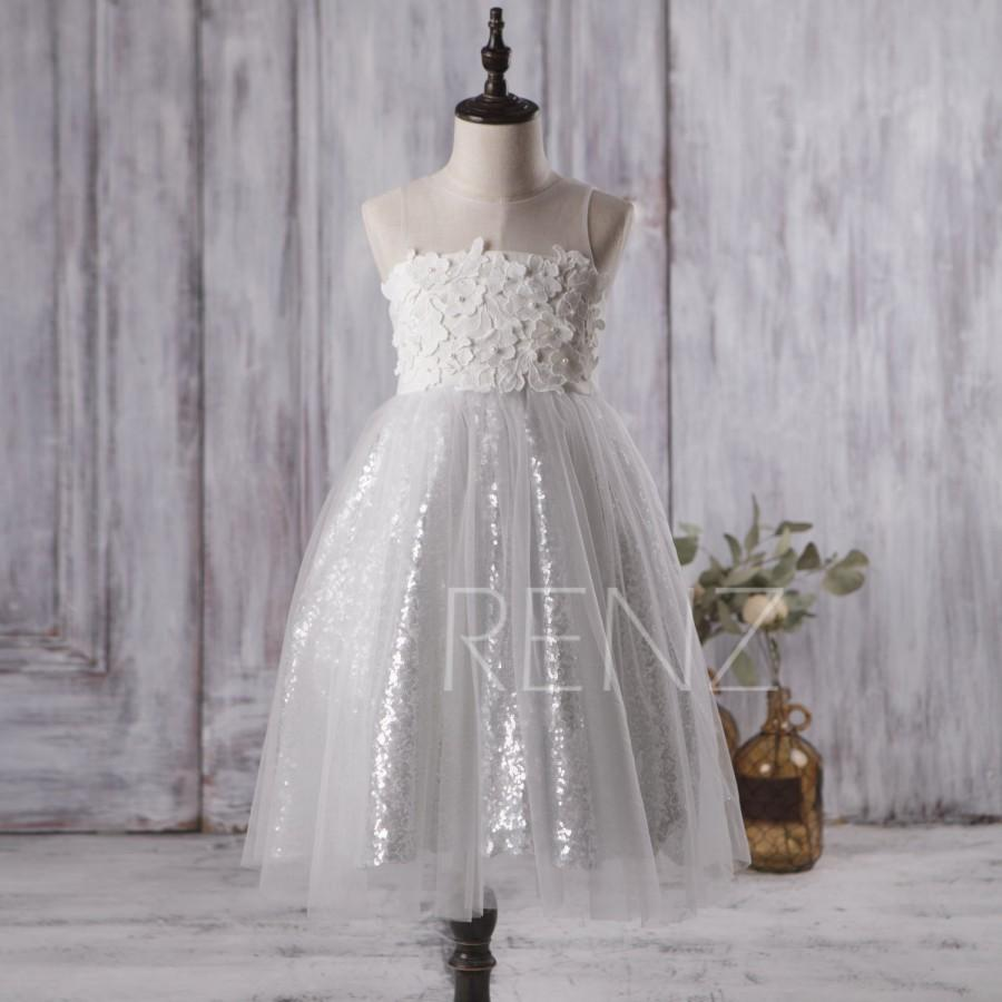 2016 off white junior bridesmaid dress soft tulle flower girl 2016 off white junior bridesmaid dress soft tulle flower girl dress illusion neck a line puffy dress silver sequin dress floor lk120a ombrellifo Gallery