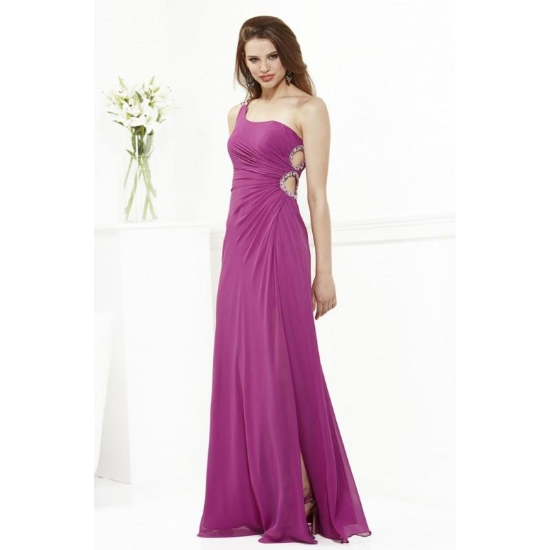 Charming a line one shoulder beading ruching side slit for Mid length dresses for wedding guests
