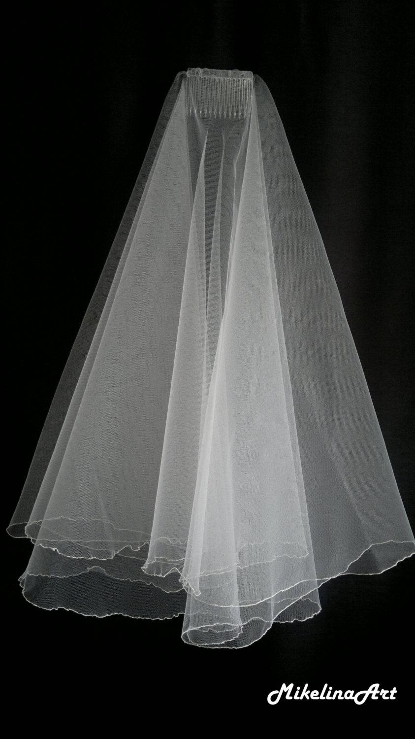 Mariage - Ivory Wedding Veil, Two Layers
