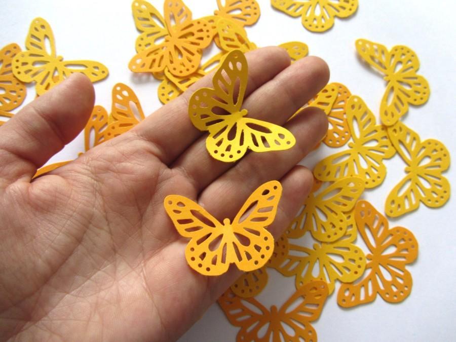 Paper Butterflies 50 Die Cut Butterflies Die Cuts Wedding