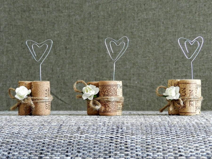 Place Card Holders Wine Tasting Party Decor Winery Wedding Cork Holder Rustic Decorations Set Of 15