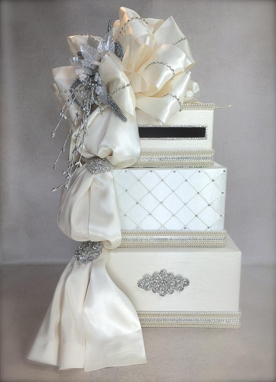 bows and diamonds wedding card holder wedding card box elegant bridal shower card box envelope wedding box reception card box