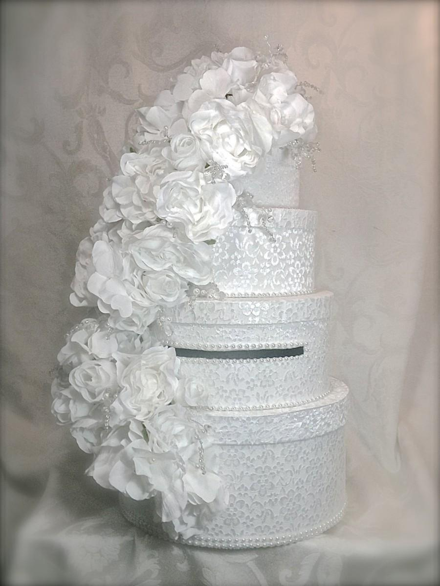 Свадьба - Wedding Card Box, Lace and Pearls, Wedding Card Box, Elegant, Unique Custom Card Box, Handmade, Gift Card Boxes,  Wedding Gift Box