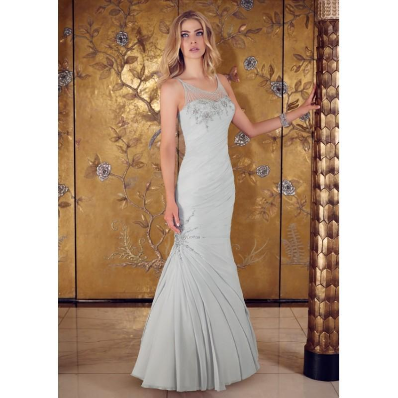 Mariage - Exquisite Trumpet/Mermaid Spaghetti Straps Beading Crystal Detailing Ruching Floor-length Chiffon Mother of the Bride Dresses - Dressesular.com