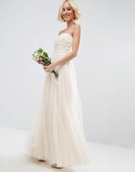 Свадьба - Ruched Mesh Bandeau Wedding Dress